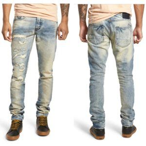 Prps Le Sabre Tapered Fit Jeans in Quiet Wash